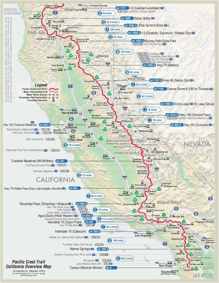 Oregon Pacific Crest Trail Map | secretmuseum