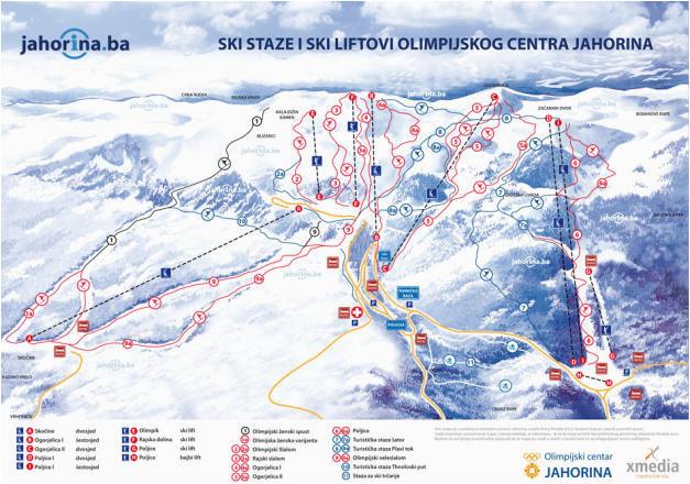 mount jahorina trail map onthesnow