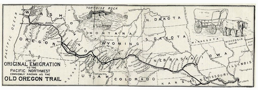 map of the oregon trail by ezra meeker the hop king of the world