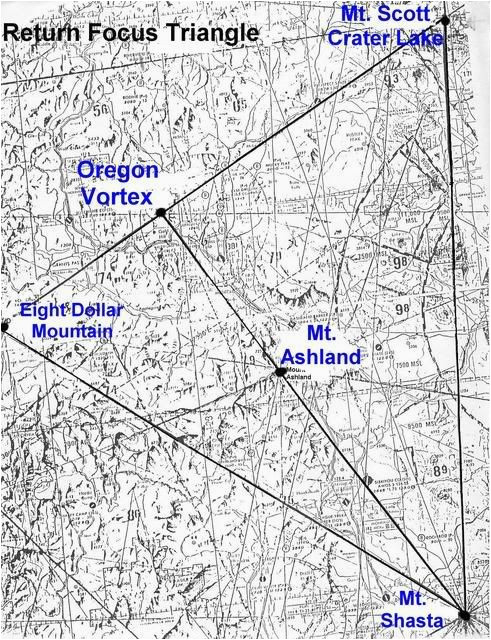 map of oregon laylines ley lines and vortices of the american west