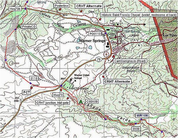 Pacific Crest Trail Map oregon Pacific Crest Trail Amazing Free Maps ...