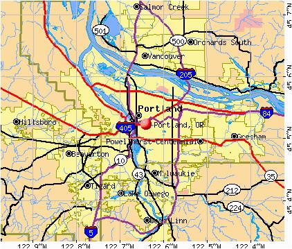 portland oregon or profile population maps real estate