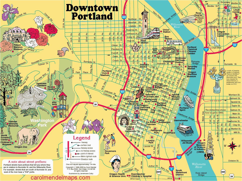Portland oregon On Map Of Usa | secretmuseum
