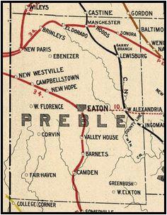 Preble County Ohio Map Secretmuseum