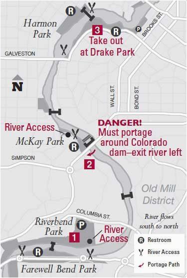 bend oregon river safety map animals pinterest park trails