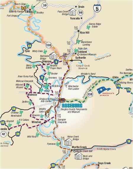 Roseburg oregon Map | secretmuseum