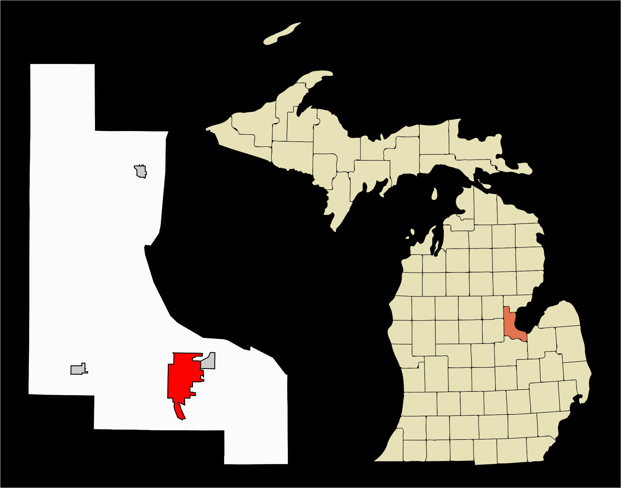 datei bay county michigan incorporated and unincorporated areas bay