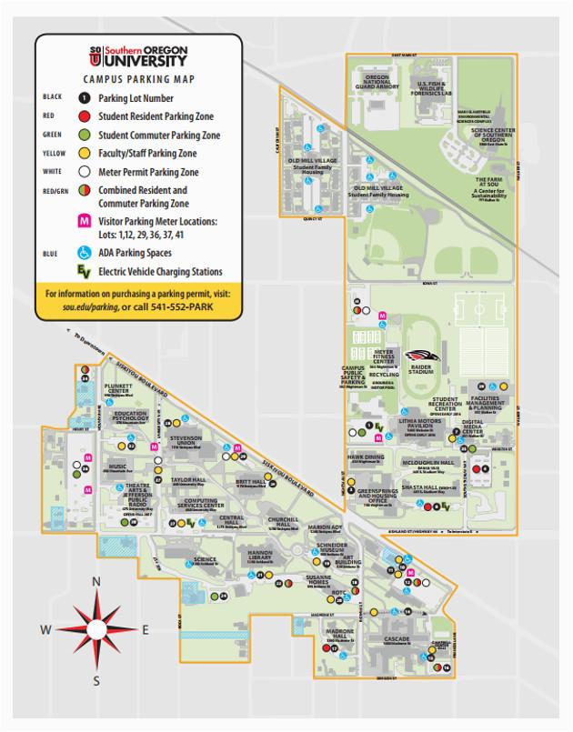Southern Oregon University Map