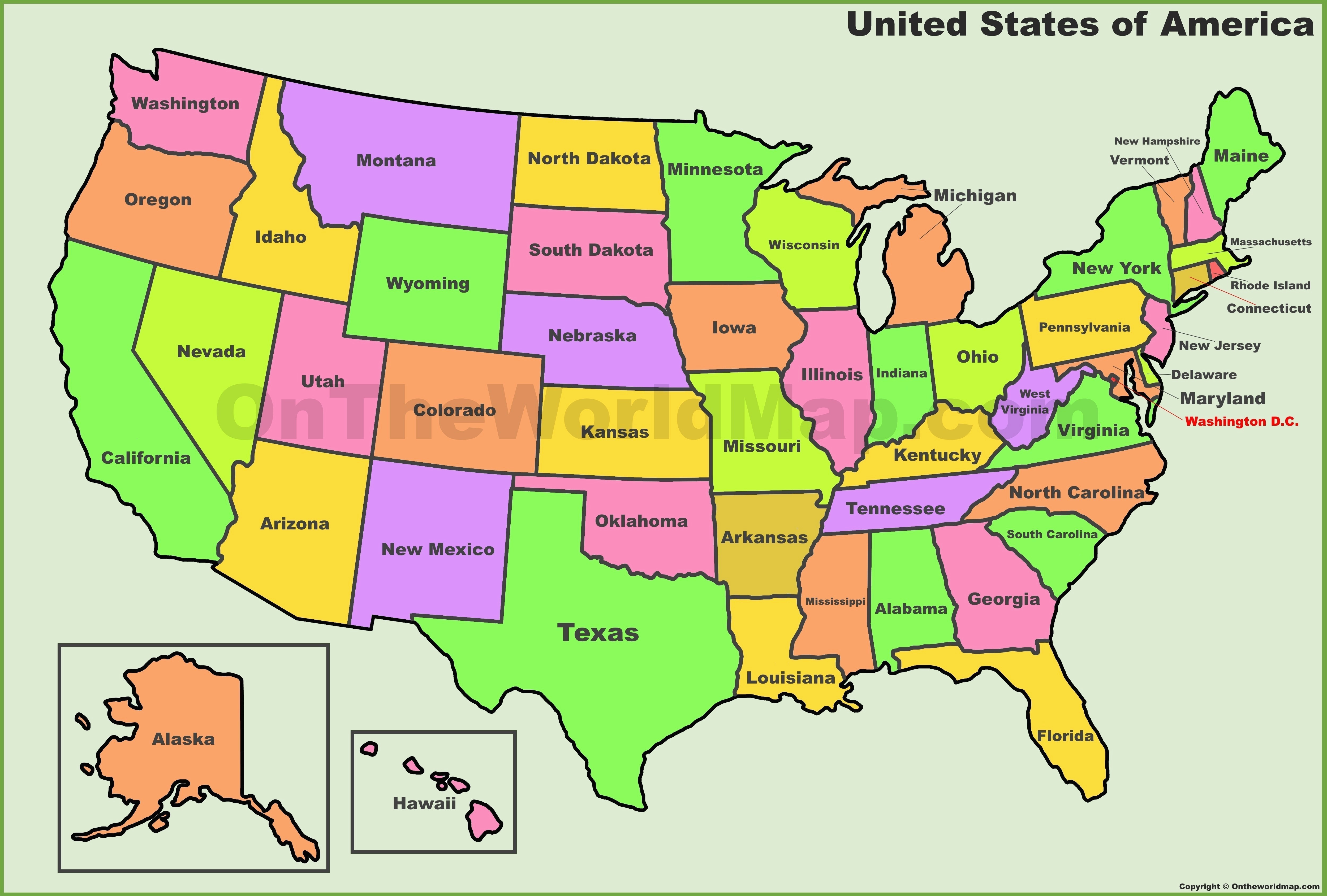 Map Of United States With Names Of States.State Of Ohio Maps United States Map Outline With State Names New