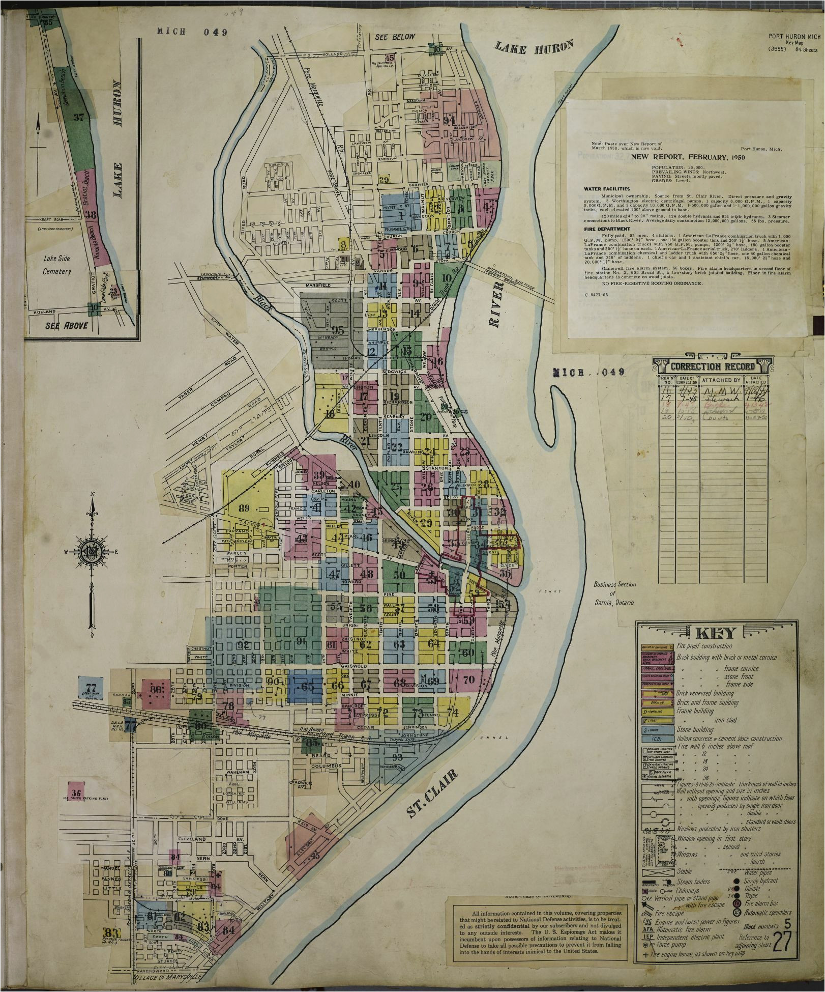 map 1950 1959 michigan library of congress