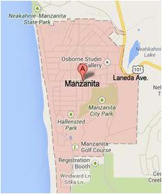 image result for vintage manzanita oregon tourist map vintage