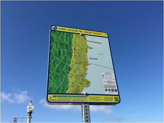 tsunami warning sign picture of astoria oregon riverwalk astoria