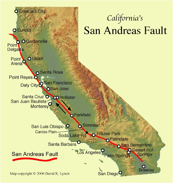 california map fault lines authorities warn of risk of major