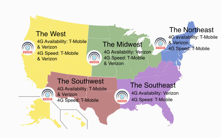 new lte study shows t mobile and verizon are the only networks that