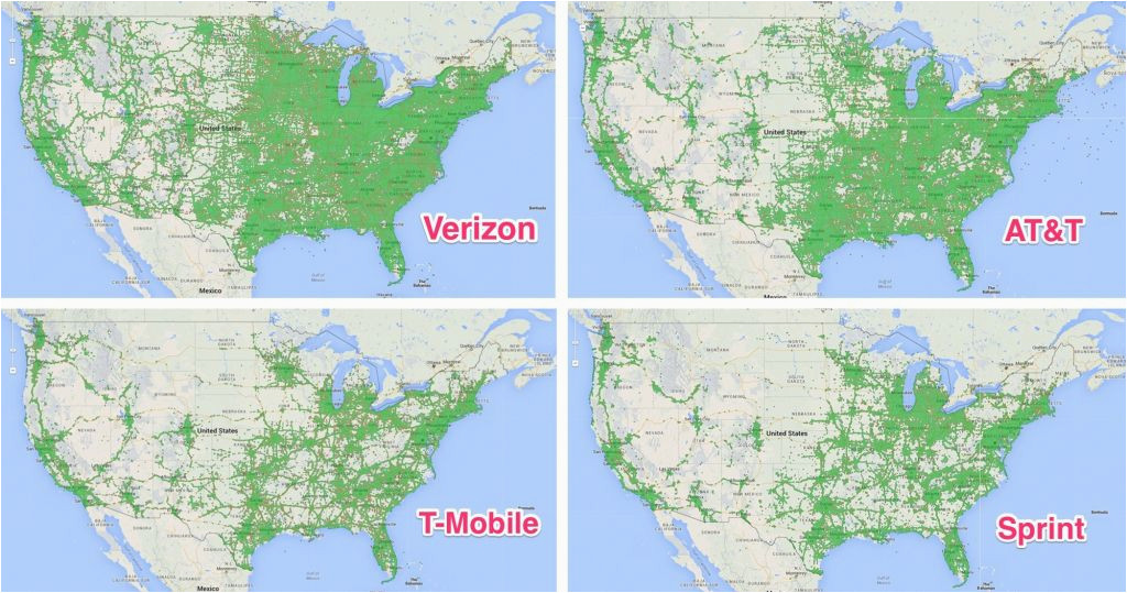 Cell Service Coverage Map on