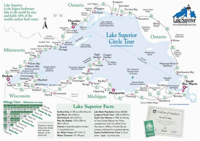 simple map of lake superior lake superior magazine