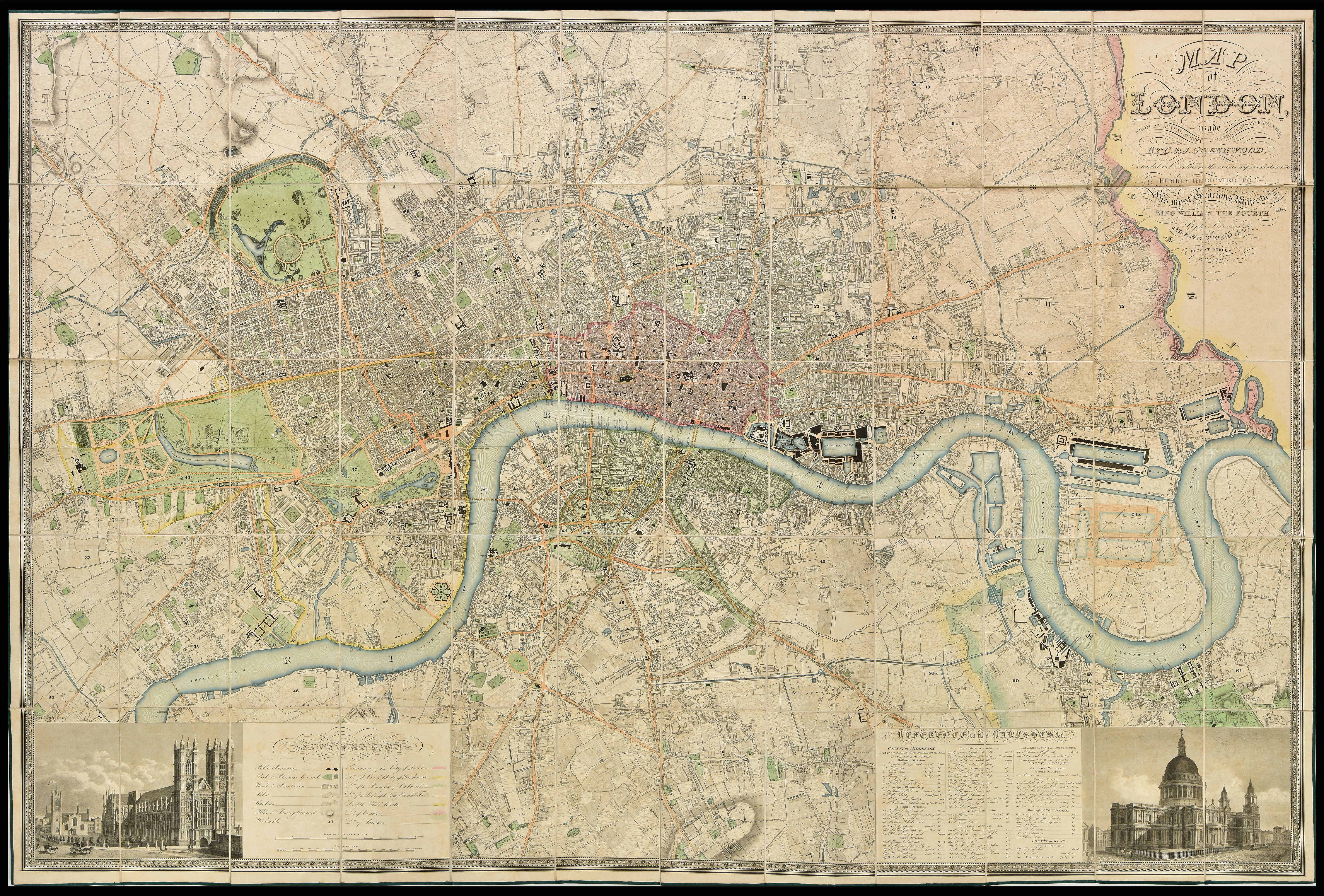 fascinating 1830 map shows how vast swathes of the capital were