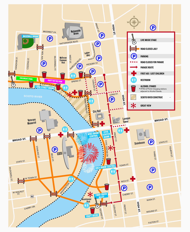 map of columbus ohio airport secretmuseum