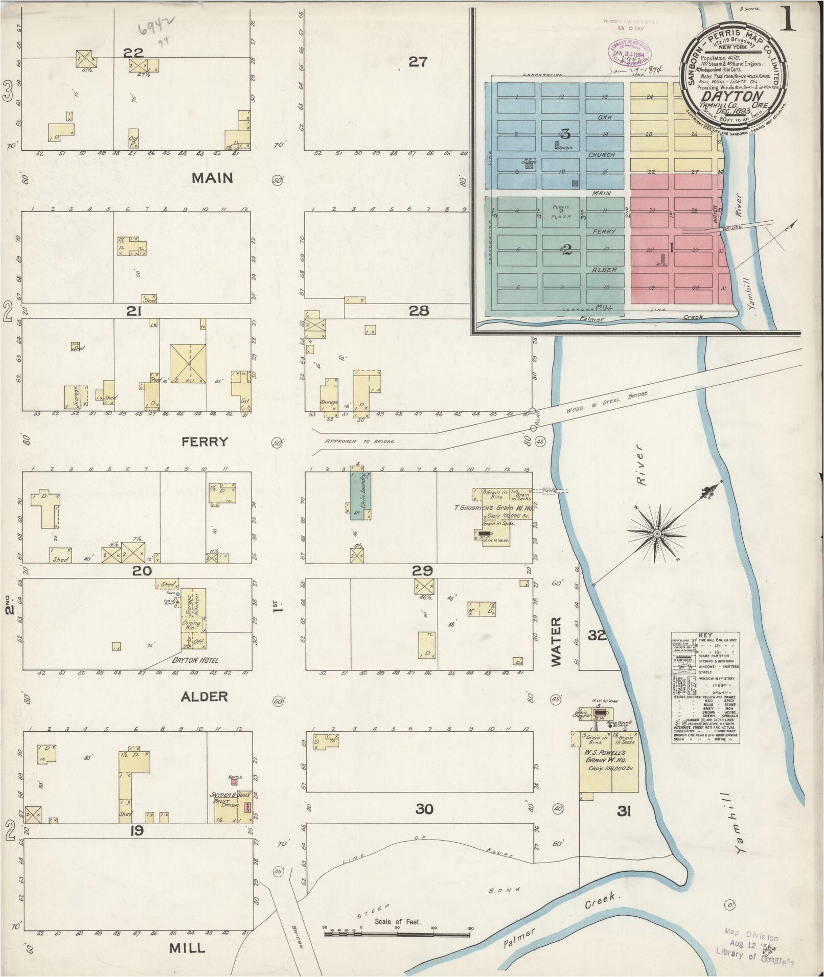 Cornelius oregon Map Sanborn Maps oregon Library Of Congress