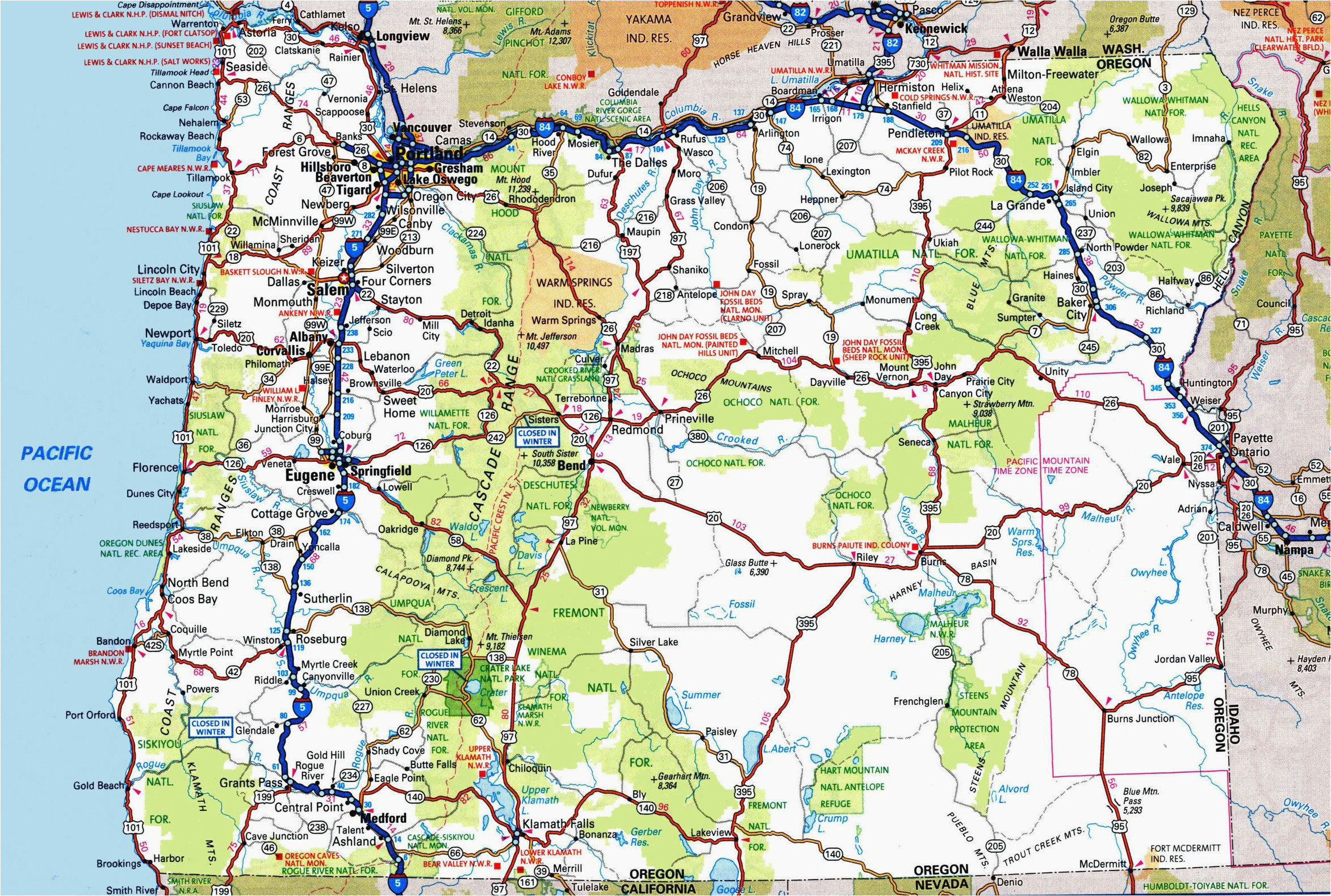 highway map of oregon state secretmuseum