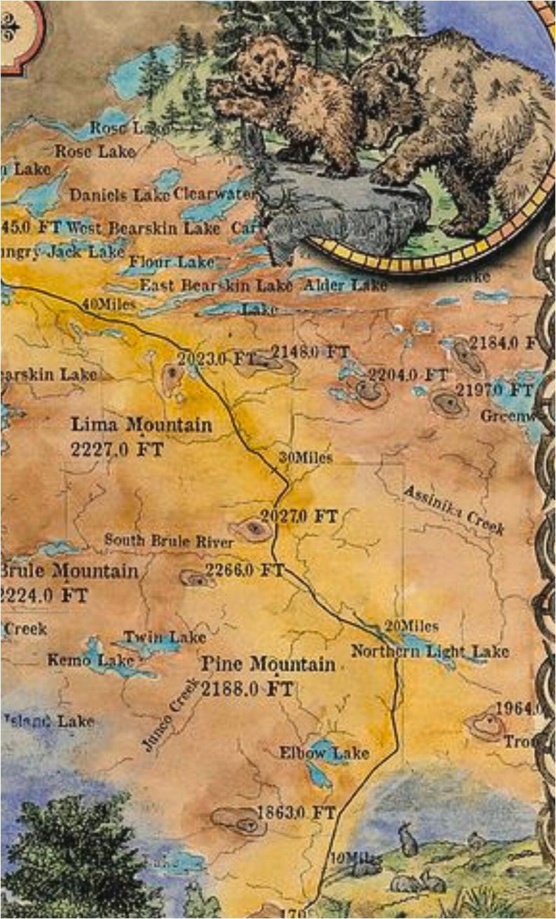 gunflint trail caribou rock trail minnesota gifts custom etsy