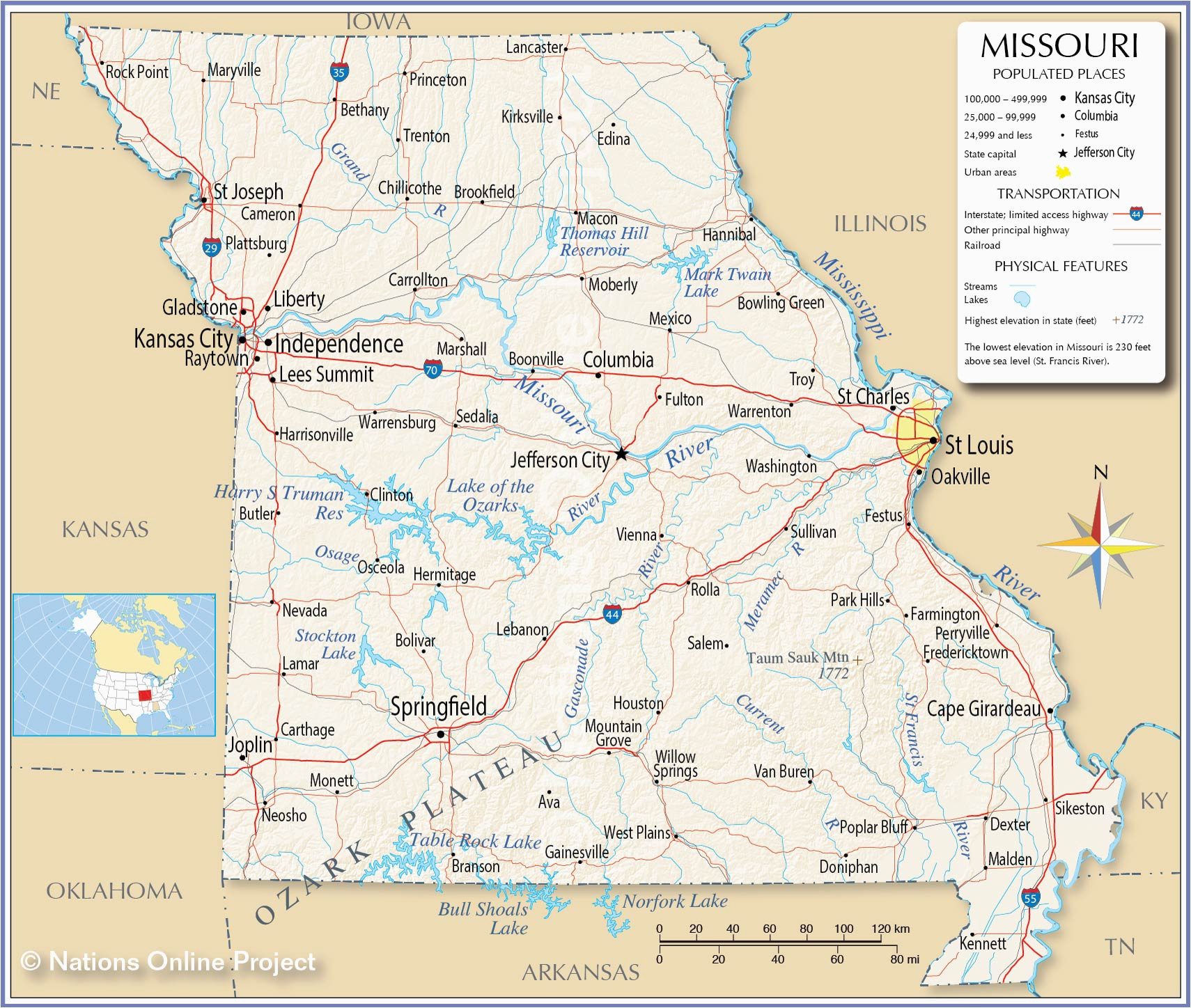 Online Map Of Usa.Independence Oregon Map Reference Maps Of Missouri Usa Nations