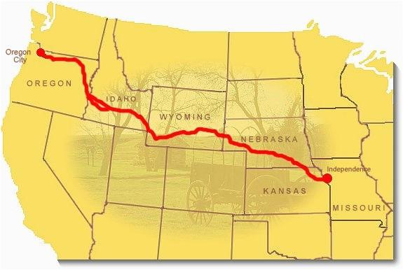 Interactive oregon Trail Map Maps oregon National Historic Trail U S ...