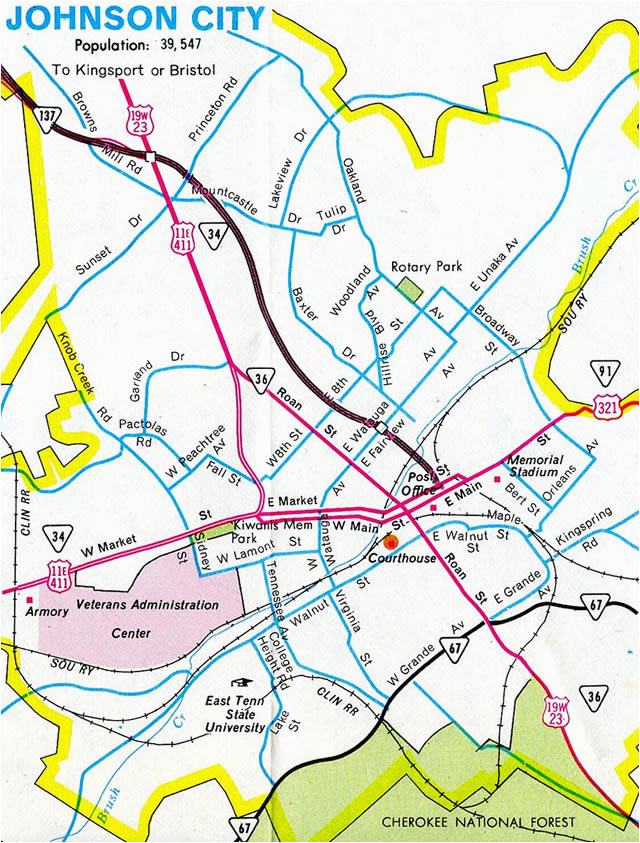johnson city tn map best of tennessee city tennessee s maps news