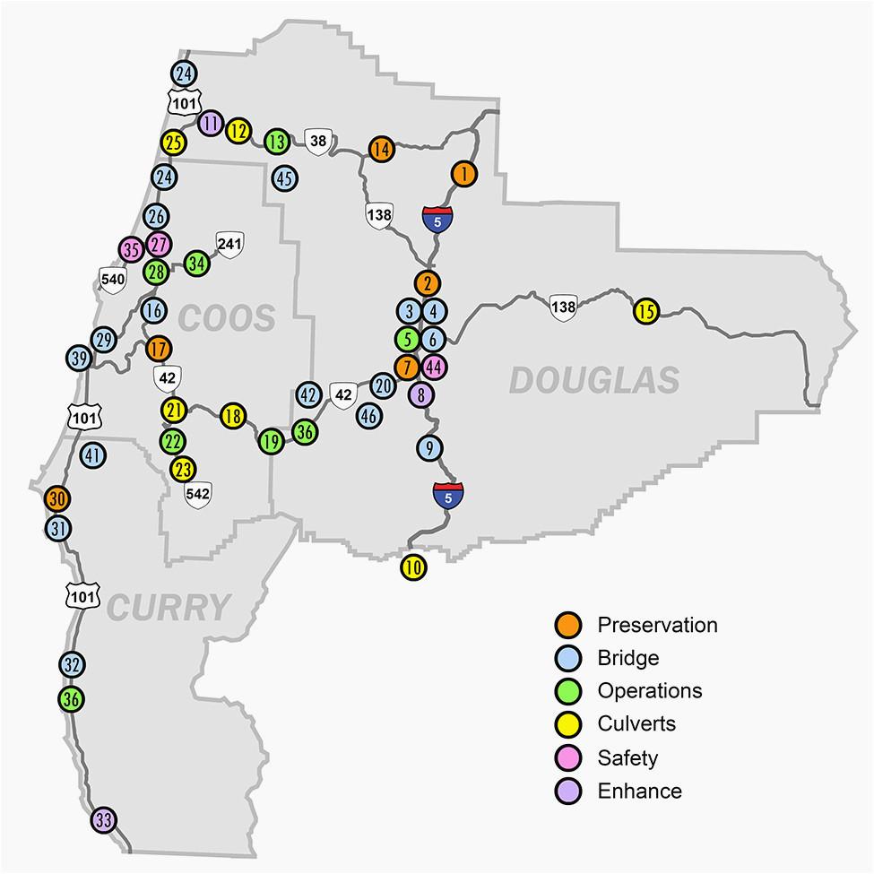 map of josephine county oregon oregon department of transportation