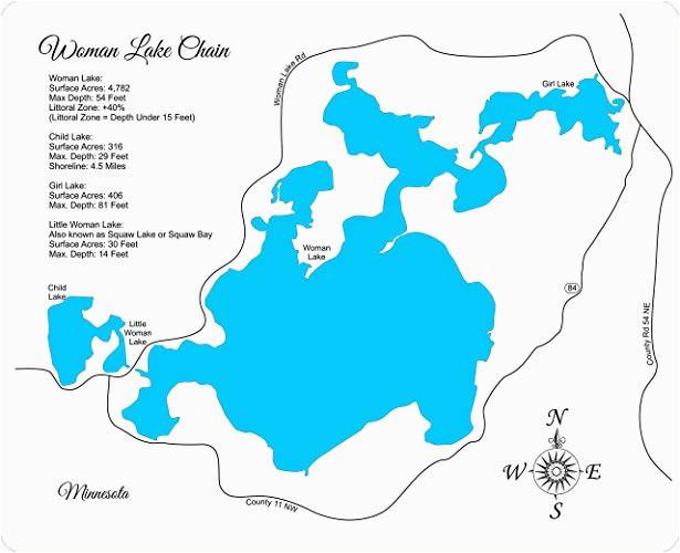 Lake Of the Woods Minnesota Map | secretmuseum
