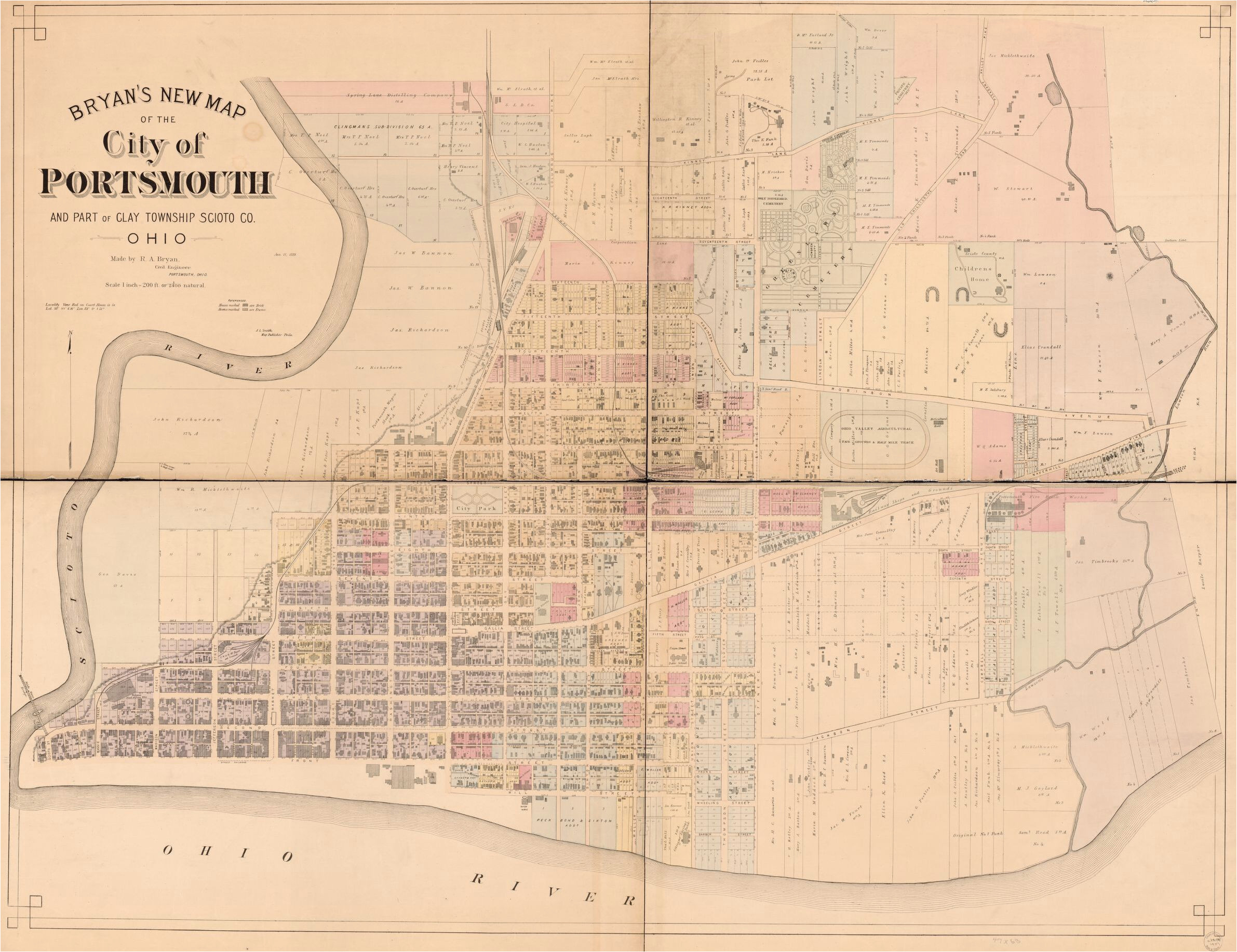 map landowners ohio library of congress