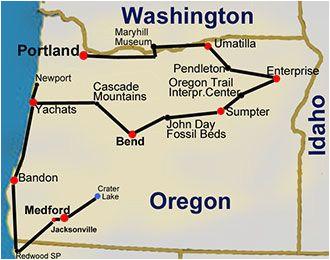 route map oregon hiking trails 14 day tour travel oregon