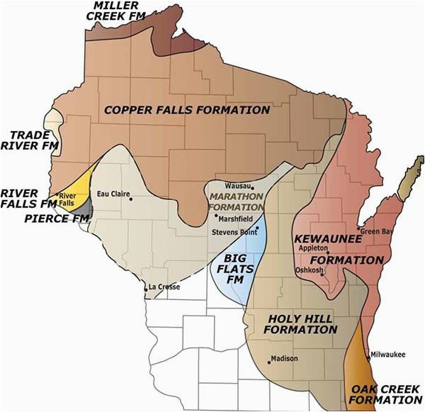 map glacial formations in wisconsin ideas in 2019 california