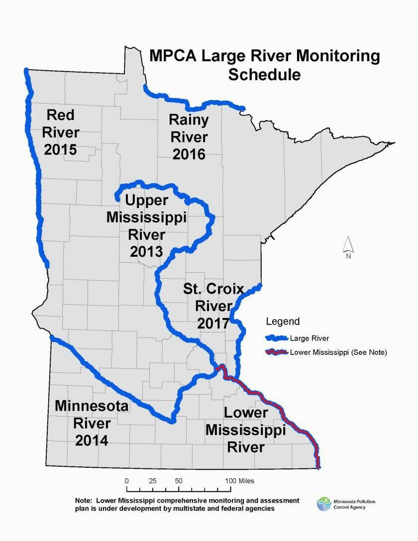 Map Of Minnesota Rivers   secretmuseum