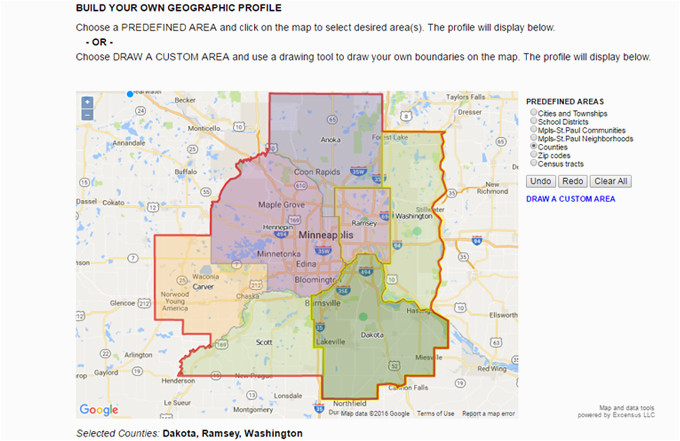 Map Of Minnesota School Districts Twin Cities area Custom Profiles