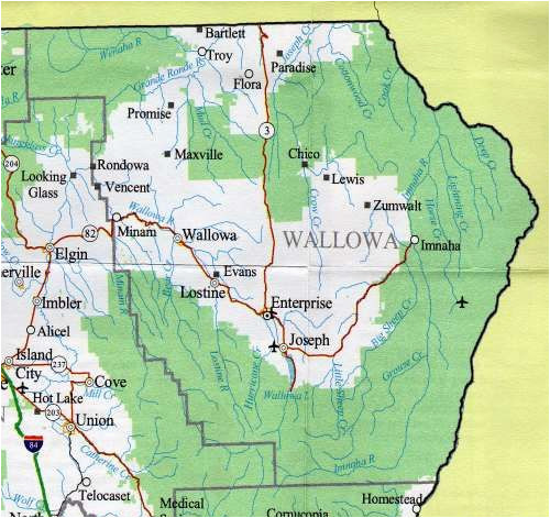 wallowa lake state park map map of the wallowa county oregon rv