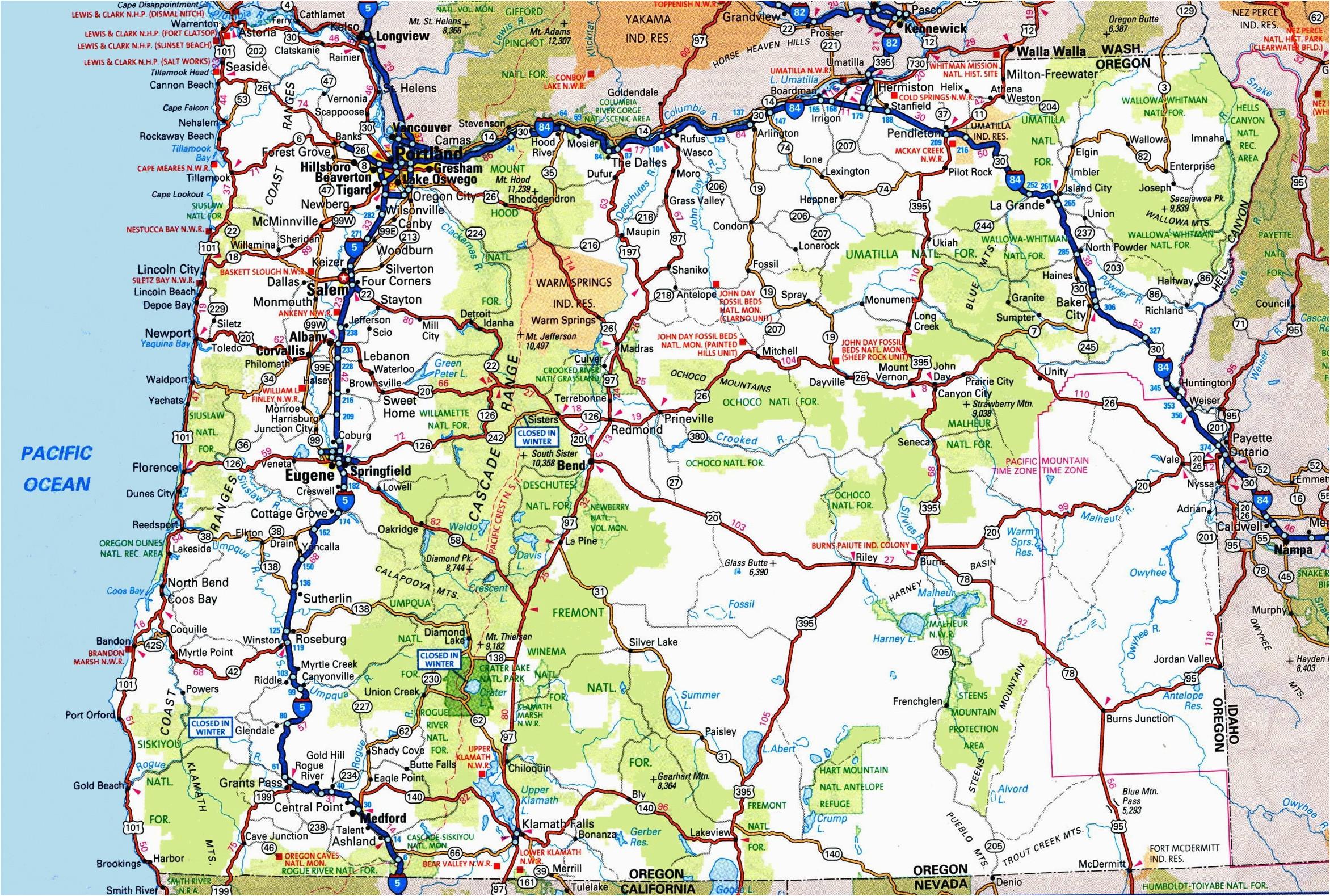 oregon road map