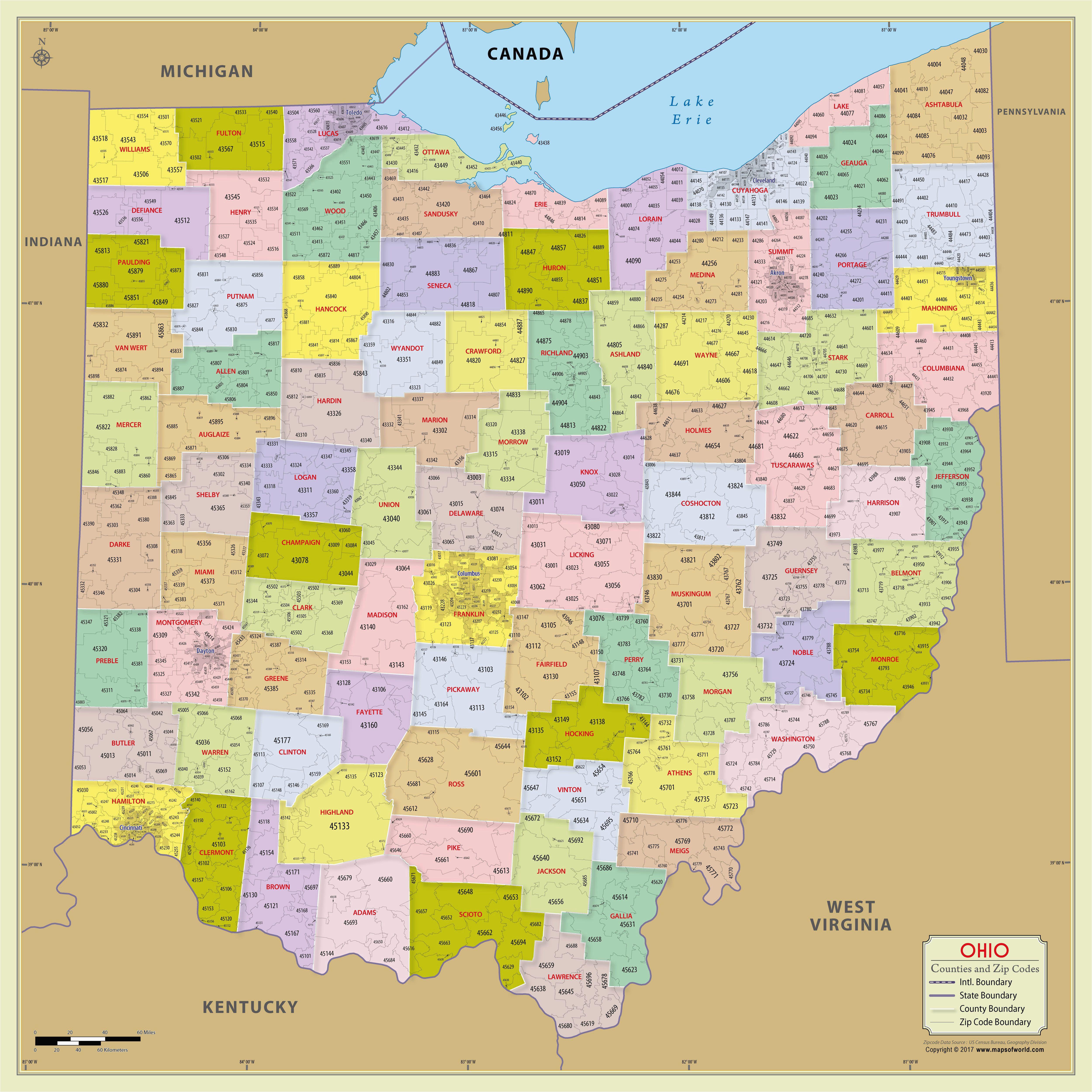 Map Of Northwest Ohio Cities Northwest Ohio County Map