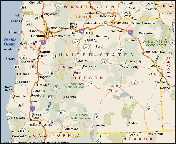 portland oregon counties map oregon counties maps cities towns full