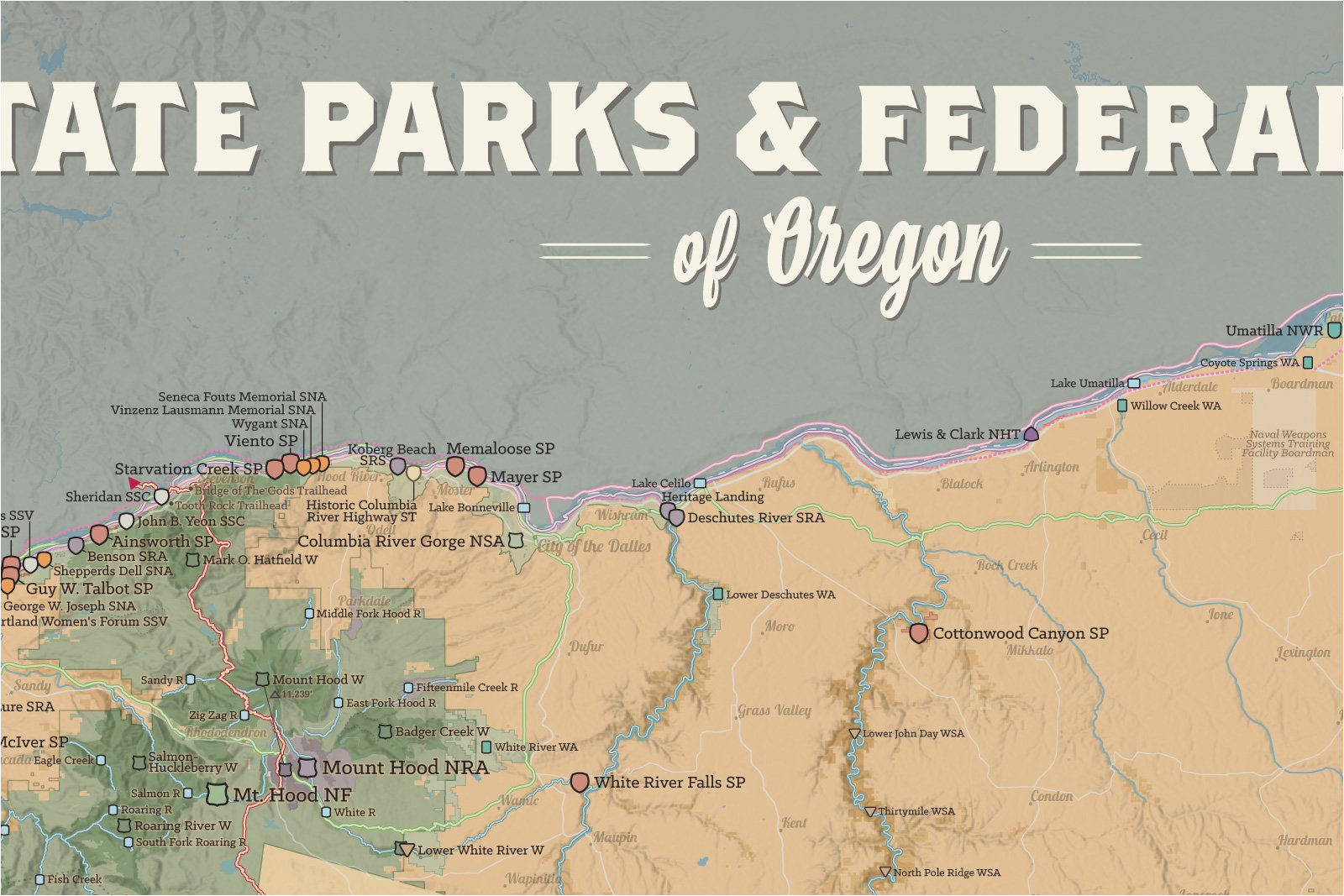 State parks in washington map