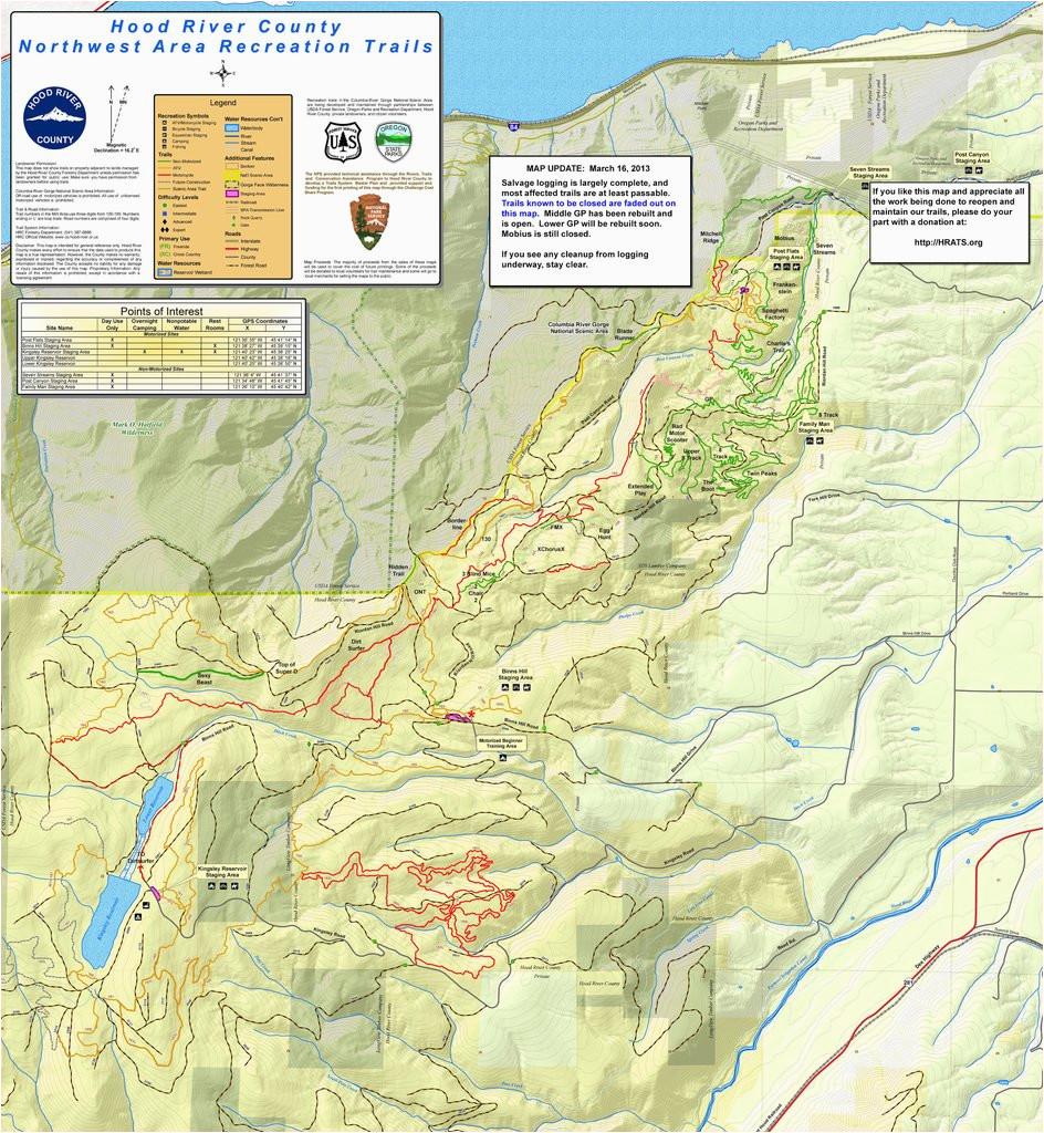 post canyon mountain biking trail system maplets