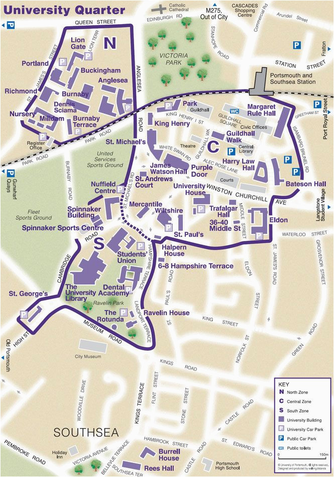find your way around our campus the university of portsmouth map