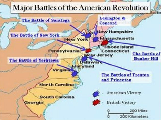 revolutionary war interactive battle map and worksheet w key