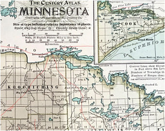 antique duluth map etsy