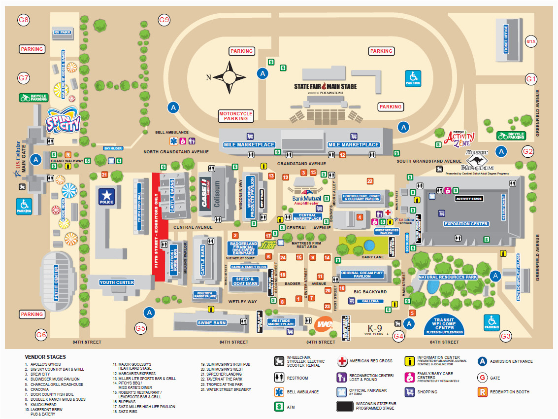wisconsin state fair map wisconsin state fair wisconsin state