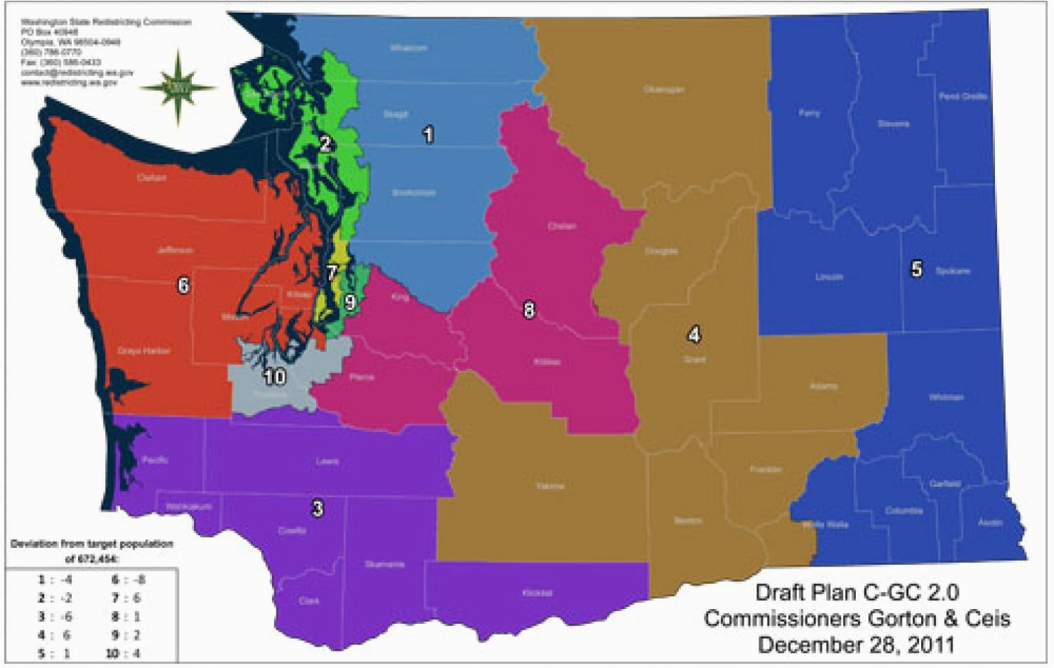 new washington map creates competitive district the washington post