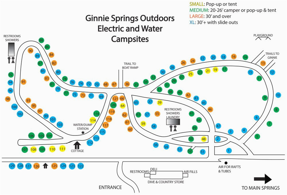 Minnesota Camping Map Camp Sites at Ginnie Springs Outdoors Camping on