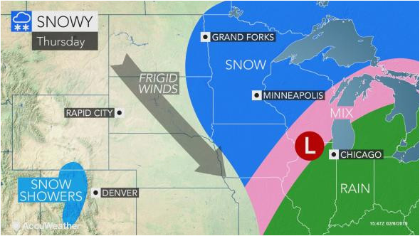 snow ice to unleash treacherous travel over north central us