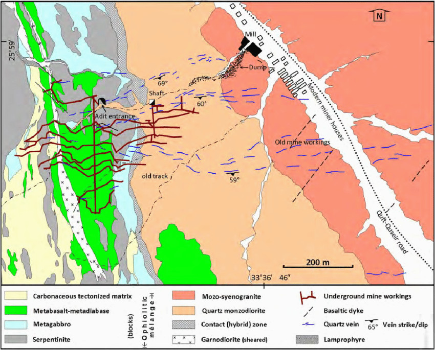 detailed geological map of the mine area showing the download