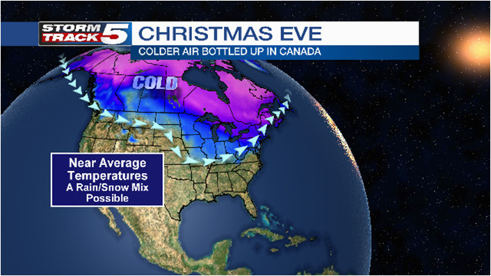 christmas day storm possible will it be rain or snow news